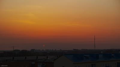 Закатный смог в исполнении Foveon Quattro Foveon Quattro sigma dp3 омск закат смог солнце диск оранжевый