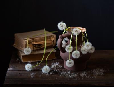 Одуваны цветы натюрморт