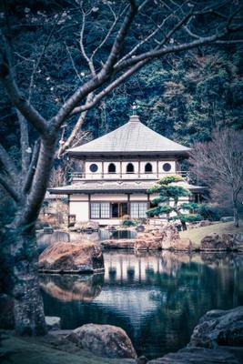 японский пруд japan