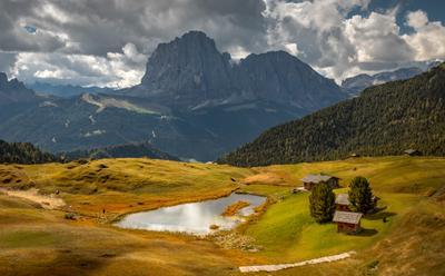 озерцо горы альпы