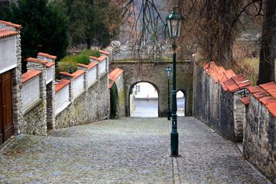 Просто улица в Чехии