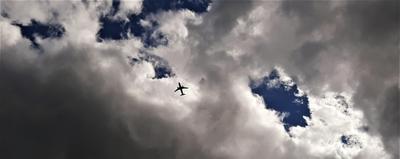 Самолет Самолет облака