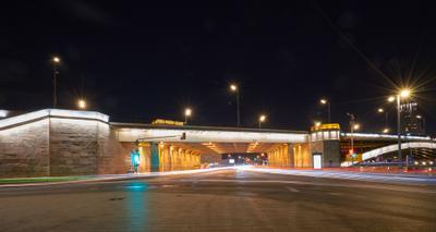Большой Краснохолмский мост Большой Краснохолмский мост Москва ночь