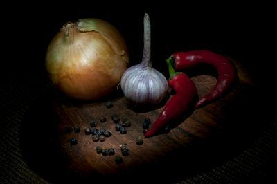 *** перец чеснок лук