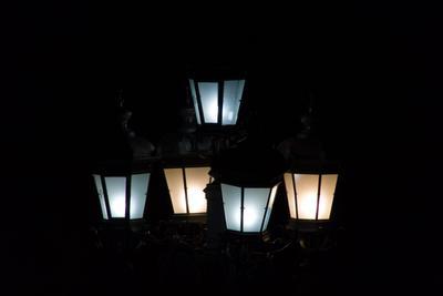 Летний вечер в парке лето вечер ночь парк фонарь улица город свет