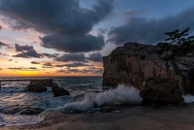Вечер в Ласпи Прибой море пейзаж вечер закат крым ласпи