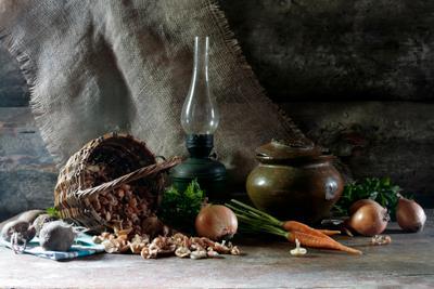 Луговая опята деревенский грибы овощи опята овощной суп