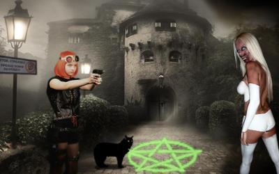 Территория ведьм или восемь простых заклинаний калибра 9-мм... Котьи Миры ДаоФото Лизунчи Кот Кэш территория ведьм меджикдром