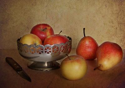Композиция с яблоками и грушами ваза груши композиция яблоки
