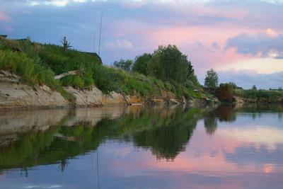 В сибирской глубинке сибирь река берег вечер