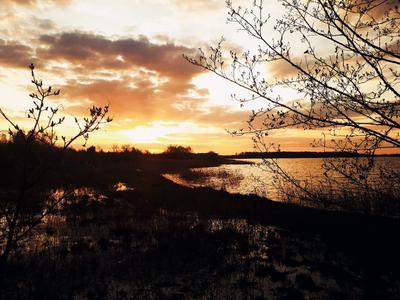 Закат солнца солнце закат речка природа
