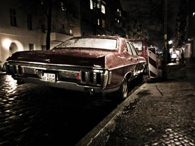 на обочине Винтаж, дождь, ночь, берлин