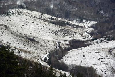 предзимье горы снег осень зима Белокуриха Алтай