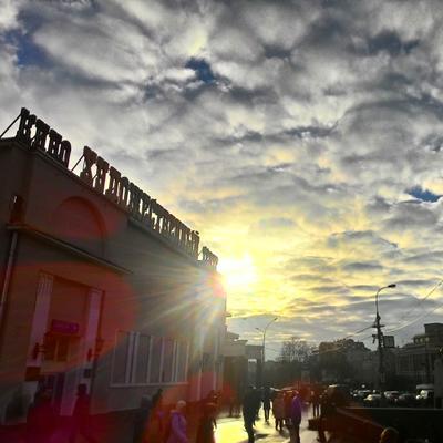 Искусство не горит Пейзаж Москва зелень луч солнца благодать любовь красота