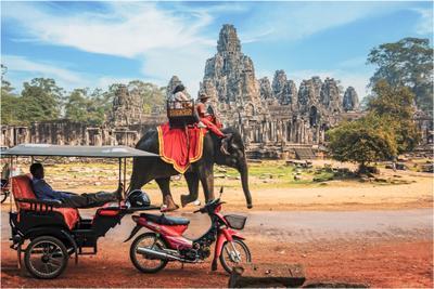 По дороге к храму Ангкор Ван