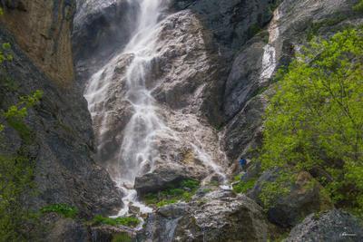 Водопад в Гырыздахна водопад скалы Азербайджан каскад Кавказ