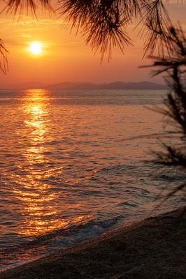 *** море закат Греция Ситония Халкидики ель Средиземное