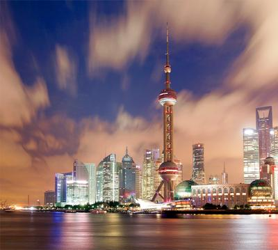 Ночной Шанхай шанхай, ночной, башня, жемчужина, востока, небоскреб