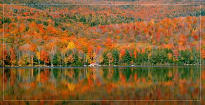Наша Осень осень, горы, озеро