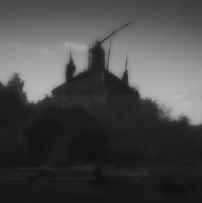 старая церковь в д Мелешино pictorial пикториализм монокль старая церковь
