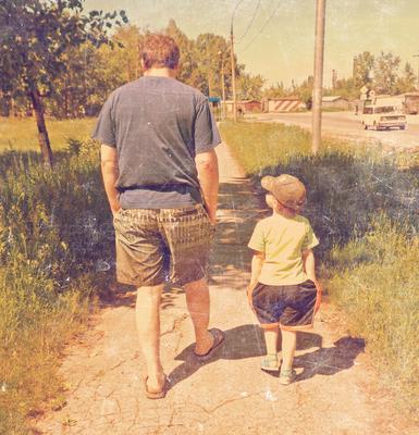 Отец и сын сын, отец, улица, прогулка