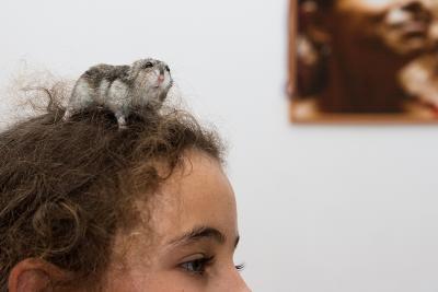 Портрет в интерьере дети животные