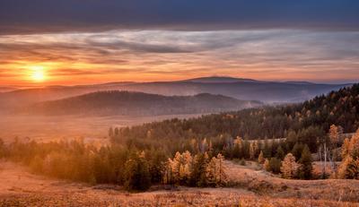 Здесь начинается Урал Южный Урал Осень Рассвет