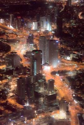 Тел-Авив с высоты Тел-Авив город ночь огни