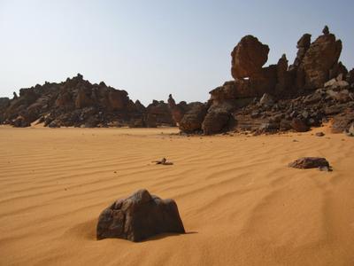 Нагорье Акакус, Сахара, Ливия. Ливия вулкан кратер горы скалы пустыня