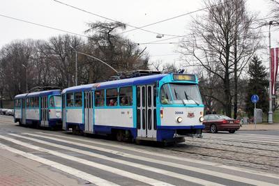 Tatra T3A (30068, Rīgas satiksme) трамвай Tatra T3A латвия рига