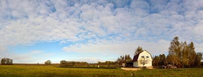 Свежая осень осень деревня панорама