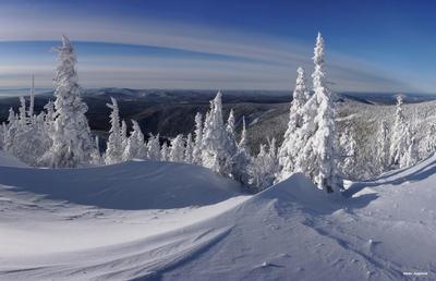 Геометрия кривых горная шория шерегеш горы зима снег