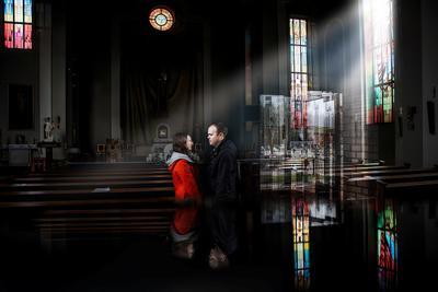 Двое костел церковь крещение пара любовь