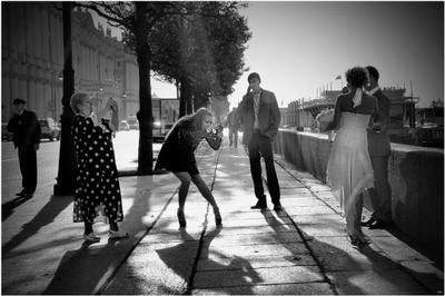Питерская свадьба... путешествия чб