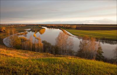 когда вода была большая закат река большая вода разлив Немда весна
