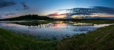 Тихий, летний вечер на берегу Сороти. Сороть Пушкинские горы Михайловское