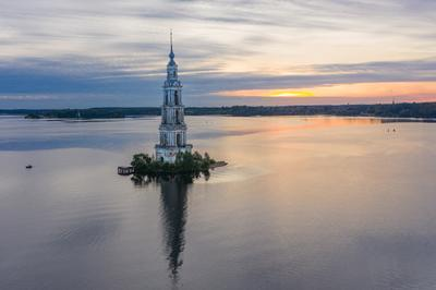 Колокольня Никольского собора. Калязин. калязин колокольня Россия