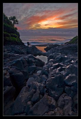 На рассвете Hawaii рассвет
