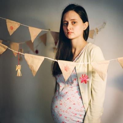 *** беременная красивая флажки спокойствие дитя ожидание