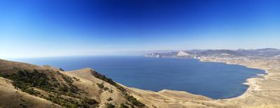 Судакская бухта Крым горы Меганом Судак Судакская бухта море