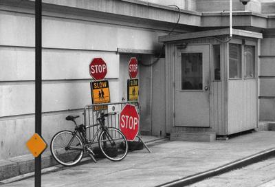 Стоп, Стоп, Стоп велосипед, город, ч/б,