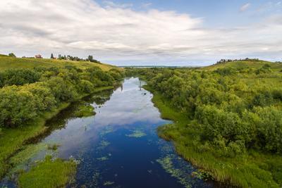 Русло одного из притоков Северной Двины пейзаж