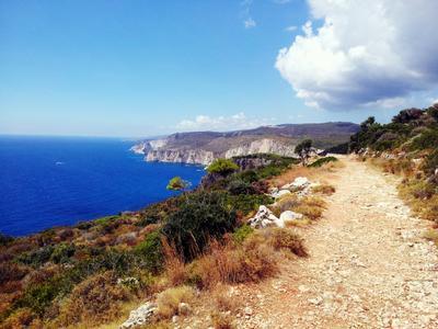 Walk Along the Coast море горы холмы берег природа