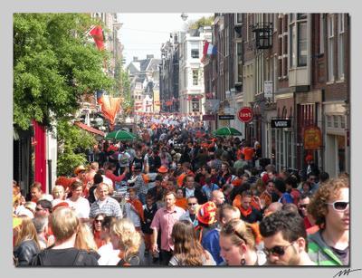 День Королевы (3) День, рожденья, королева, оранжевый, праздник, Амстердам, Голландия, Нидерланды