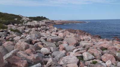 Каменный берег.Атлантический океан.