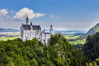 Schloss Neuschwanstein пейзаж