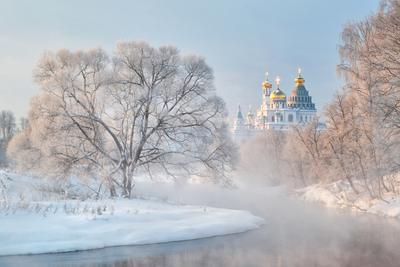 *** зима Истра река Новоиерусалимский монастырь