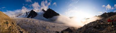 Вдыхая туман... Ледник Юном, Кичкидар Кавказ туризм альпинизм