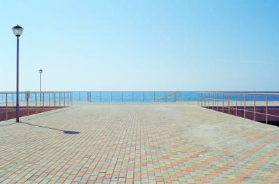 Пристань Пристань горизонт небо море Абхазия