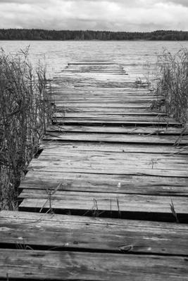 провожая лето (1) озеро лето осень мостки Муром